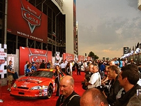 Overview of the red carpet at the CARS premiere