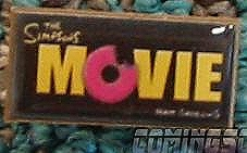 The logo for THE SIMPSONS MOVIES looks tasty.