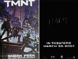 The TMTN booklet gives a sneak peek at some artwork for the upcoming Teenage Mutant Ninja Turtles movie.