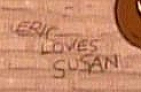 """Eric loves Susan,"" as hidden in ZIGGY'S GIFT."