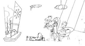 PINK pencil sketch