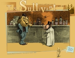 The front page of the T. S. Sullivant website showcases artwork from the artist.