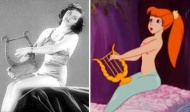 Side-by-side comparison of Kerry and her mermaid incarnation