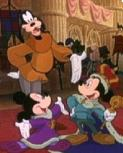 Goofy and Mickey mice in THE PRINCE AND THE PAUPER