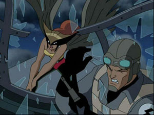 Hawkgirl in Justice League - The Savage Times