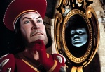 Lord Farquaad and Magic Mirror, in SHREK