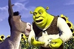 Shrek explains to Donkey how ogres are like onions, in SHREK.