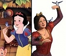Disney's Snow White (left), DreamWorks' Snow White (right)