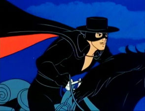 Zorro Cartoon Superhero