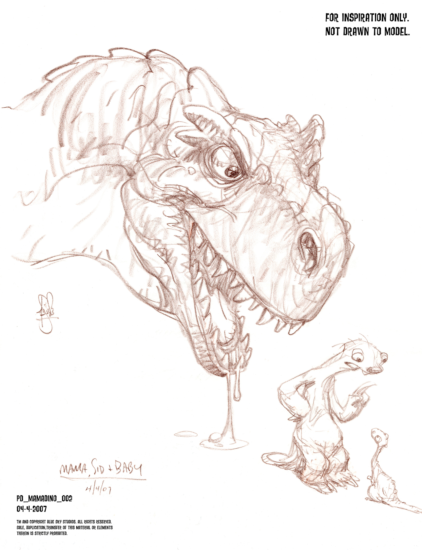 Concept Art Characters 169 Ice Age