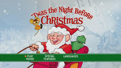 peanuts holiday specials and the classic christmas favorites collection playing at disc start up plus ones for how the grinch stole christmas and lego