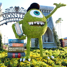 Monsters University character posters hit online, topiaries now at