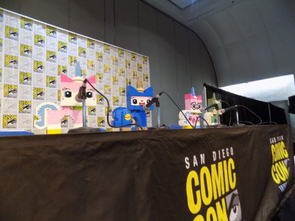 Before The Panel Proper Started They Put Out Four Unikitty Displays Built From Lego Bricks That Were About A Couple Feet High Tara Strong Who Will Voice