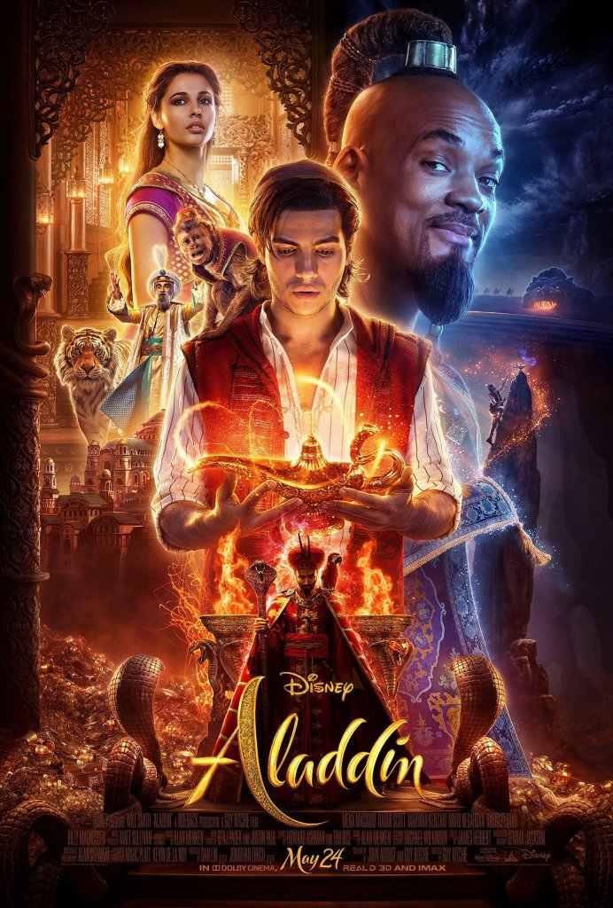 Sing along to the full aladdin trailer animated views - Aladdin 2019 poster ...