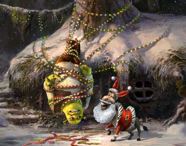 Joyeux Noël, Shrek ! [ABC - 2007] Shrek-the-Hallsb