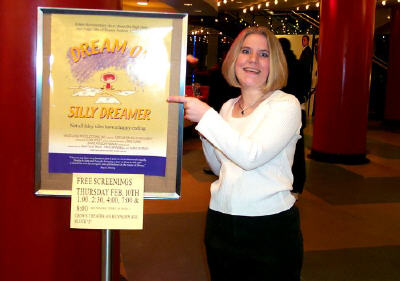 It's me!  With the poster!  Looking slightly insane!  ;-D
